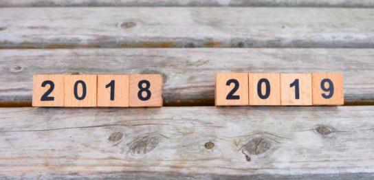 2018年から2019年へ